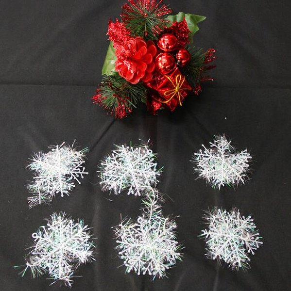 2016 new 1800pcs Festival Tree Decorations White Snowflake Ornaments Christmas For Home On the Window indoor decor