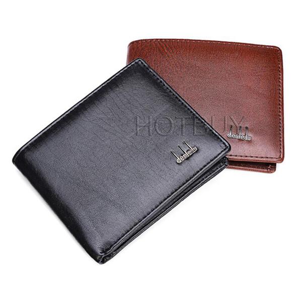best selling Fashion Men Business Standard Short Wallet Solid Color PU Leather Purse Multiple Cards Photo Burse Bifold Notecase Male Cltchbag #4060