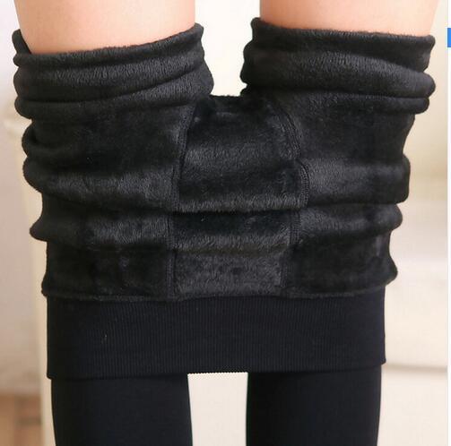 2016 Fashion Women Leggings inside Thicken Fur Warm Leggings womens winter fleece legging pants female velvet leggins
