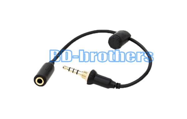 Cas de couverture étanche casque adaptateur câble de remplacement 3.5mm femelle à câbles pour hommes avec capuchon d'étanchéité pour iPhone4 / 5/6 écouteurs 100pcs / lol