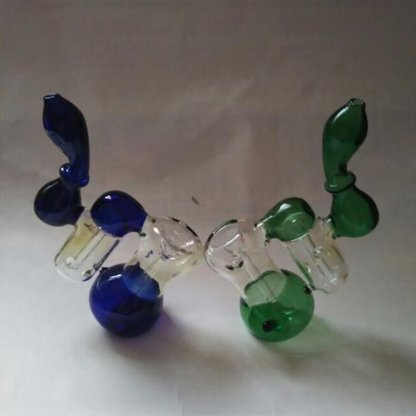 Vetro Gorgogliatore Vetro spesso Fumo Dab Rigs Design Sherlock Doppio Bubbler Tubi Recycler Vetro Heady Pipa a mano Tubi di fumo