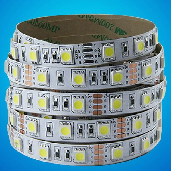 12V/24V 30leds/M high brightness SMD5050 LED strip light tape flexible 5meters 2700-3000LM white|yellow|Black PCB with Good quality price