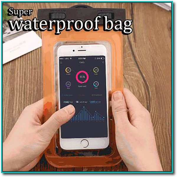 Cheap Swimming Diving Waterproof Sport diving clear phone Case with Compass Waterproof Swimming phone Bag case for samsung iphone HTC