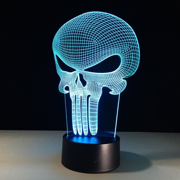 best selling Halloween Publisher 3D Illusion Lamp 3D Optical Lamp Night Light Battery DC 5V Dropship Factory Wholesale