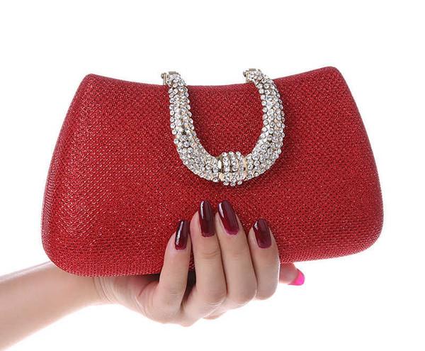 Nuevo diseño Bolsos de noche Bolsos de fiesta Bolso de boda Diamante Embrague Messenger Purse Cadena Bolsa de hombro Bolsa Feminina Purse