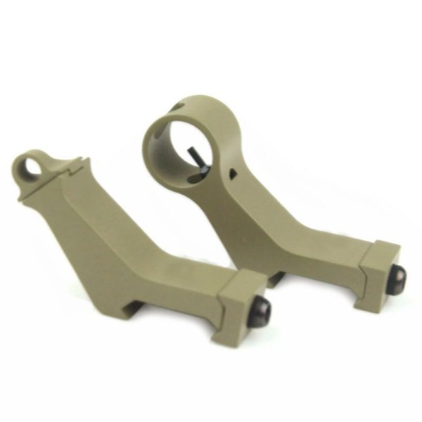 New arrival Tactical airsoft Front and Rear Sight 45 Degree Iron Sight for hunting DE ht579