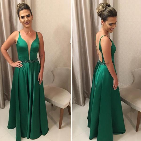 Großhandel 2017 Sexy Abendkleid Grün Elegante Kleider Tiefer ...