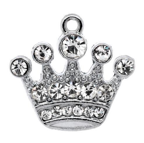 Livraison gratuite! 10 Pendentifs 21x20mm (B10355) en argent avec pendentif en forme de couronne de bijoux en gros en vente chaude