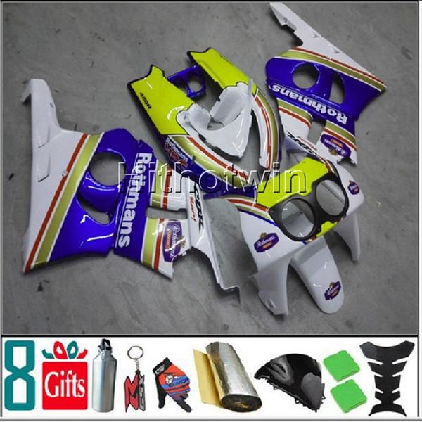 capucha azul para HONDA CBR400RR NC29 1990-1994 CBR400RR NC29 90 94 ABS Fairing