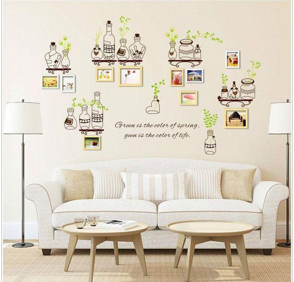 Freies Verschiffen 2016 NEUE Ankunft Aufkleber Blatt Flasche Home Decor  Wandaufkleber Home Vinyl Wandbild Kunst Decals
