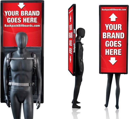 Free Shipping 2PCS Outdoor Walking Led Billboard,LED Backpack Advertising Boards Billboard,Double Sided Human Led Billboard