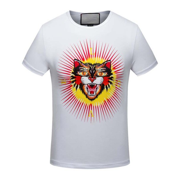 g autumn winter quality is very good animal printing T-Shirts, high-end designer clothing, shape is perfect Medusa T-Shirts Asian code