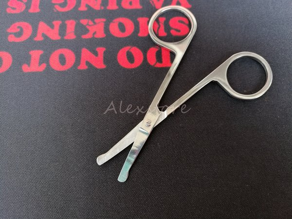 Makeup Eyebrow Scissors With Round Head Stainless Steel Woman Brow Blade Beauty Vibrissae Scissors Nose Trimmer Make-up Tool for RDA DIY Kit