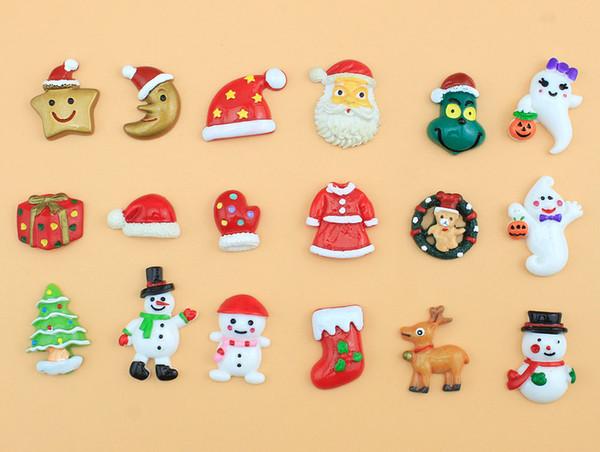Natal flatback diy phone case decoração celular artesanato resina artesanato scrapbooking meninas cabelo arco acessório ornamentos