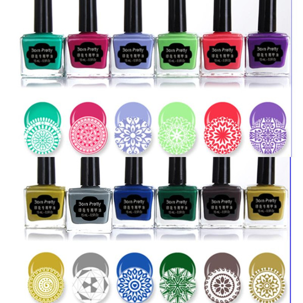 1 Bottle Born Pretty 15ml Sweet Color Nail Stamping Polish Manicure ...