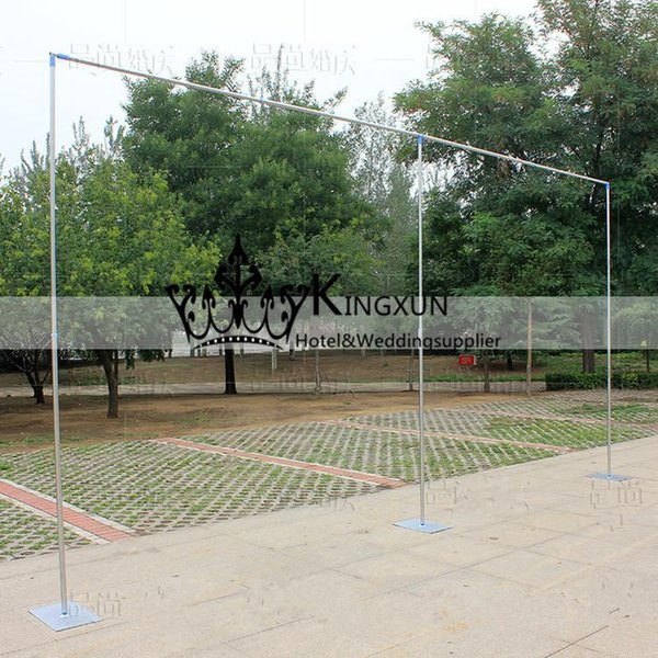 Top quality 3M*6M Wedding Backdrop Stand Stainless Steel Wedding Decoration Gauze Curtain Stent Cheap Price free shipping