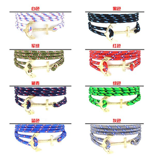 Hot Fashion pirate nautical navy anchor bracelet small fragrant wind woven simple bracelet DHL free shipping