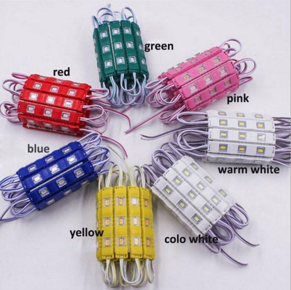 5730 LED Module 12V Injection Molding Module clear lens waterproof IP65 red green blue Yellow Pink Warm white