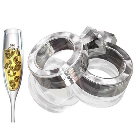 2015 Hot Sell Ice Tray Diamond Love Ring Ice Cube Style Freeze Ice Mold Ice Maker Mould