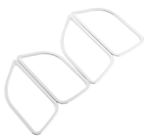 Car styling, ABS Cromo rivestimento della maniglia della porta coperchio decorazione interna anello adesivo per KIA RIO K2 2011 2012 2013