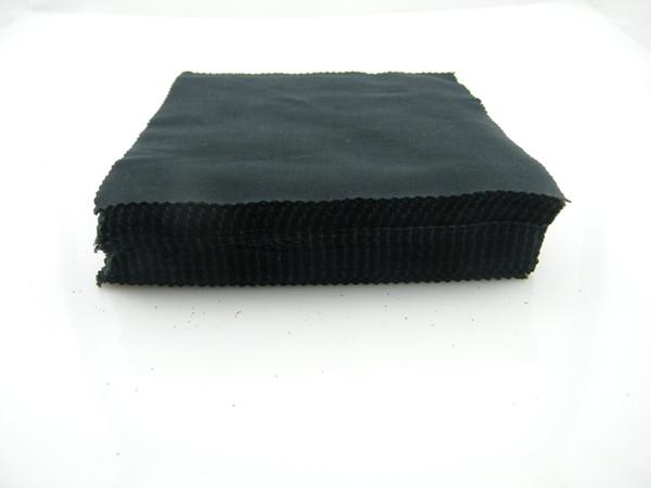 Black Color 14.5x15.5cm Black Microfiber Sunglasses Cloth Reading Glasses Cleaning Cloth for Eyeglasses Case Glasses