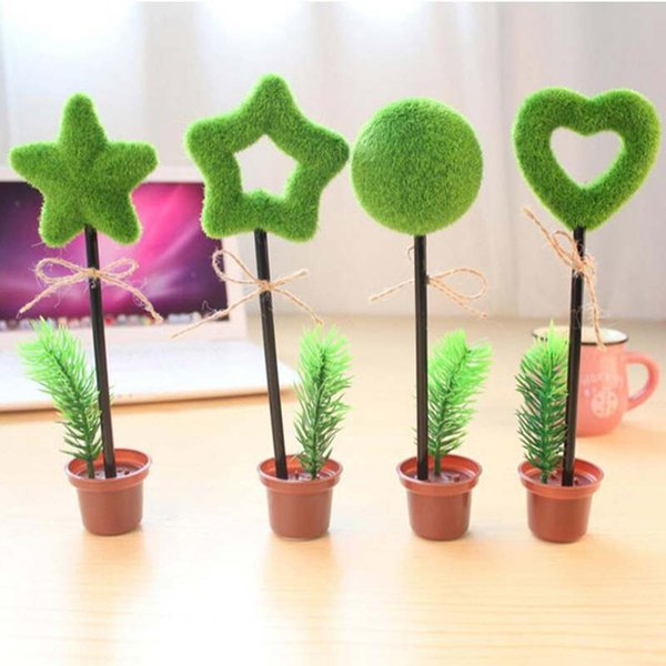New 6pcs Artificial Pot Plant Shape Ballpoint Pens Vivid Cute Stationery Gifts Price Christmas Home School Office Decoration