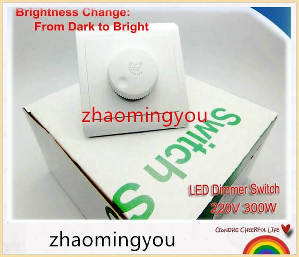 YON Free shipping LED Dimmer Switch 220V 300W Brightness from Dark to Bright Driver Dimmers For adjustable LED lights