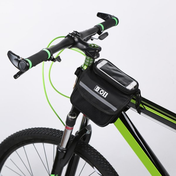 Outdoor Mountain Road Bike Bag Bicycle Front Tube Bag Cycling Phone Touch Screen Pouch Pannier Bike Bags Bicycle Accessories