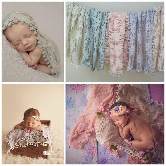 Baby Shower Lace Swaddles Newborn Blankets Baby Tassel Wraps Photography Props Bedding Bath Towels Parisarc Robes Quilt Hammock