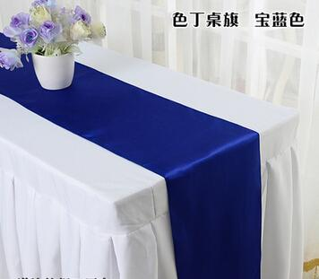 top popular 2016 Hot sell Satin Table Runner Wedding Cloth Runners Silk Organza Holiday Favor Party Decorations Flag -RUN 2021