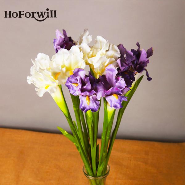 10 Pcs /Lot High Quality Flowers Iris Artificial Flowers Decorative Fake Flower For Christmas Wedding Home Decor Accessories