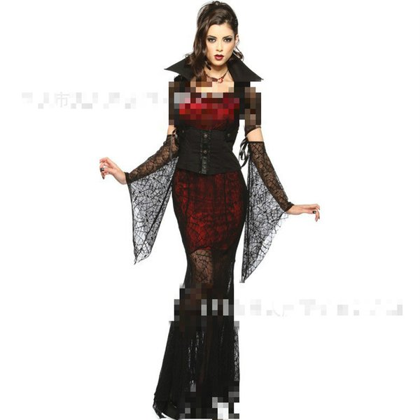 Halloween Costumes For Women 2016 New Adult Sexy Retro Noble V&ire Costume Suit Long Fancy Dress  sc 1 st  DHgate.com & Halloween Costumes For Women 2016 New Adult Sexy Retro Noble Vampire ...