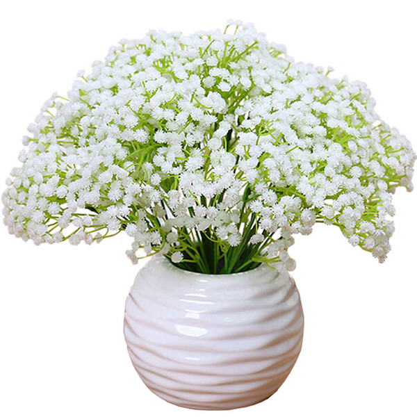 White gypsophila flowers coupons and promotions get cheap white babys breath wedding decoration plastic flowers gypsophila bride holding bouquets plant home party decor white purple flores mightylinksfo