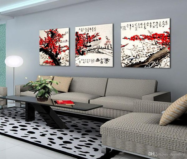Feng Shui Wall Art Canvas Hd Print Decorative Zen Picture Modern Chinese Words Set30215