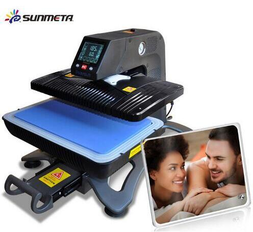 ST-420 Sunmeta Auto-Pneumatic 3D Sublimation Press Machine , newest T-shirt printing heat press machine 26*38cm,220V