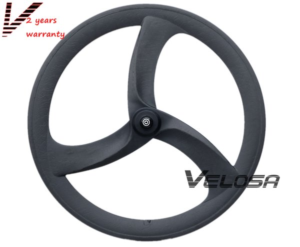 Super light road bike Full carbon Tri spoke/3-spoke wheel,56mm clincher for road/Track/Triathlon/Time Trial Bike Wheels