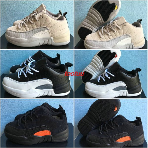 new arrival f4140 ace7a 2017 Boy & Girl Retro 12 Low Mex Orange Playoffs Infant 23 Basketball Shoes  For Kids Children Athletic Basket Ball Boost Shoes Sports Sneaker From ...