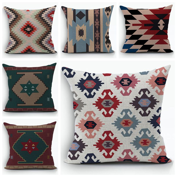 Wondrous Beautiful Kilim Cushion Cover Ethnic Boho Almofada Indian Turkish Throw Pillo Case Cotton Linen Sofa Bed Fundas Cojines Lawn Chair Cushions On Sale Beutiful Home Inspiration Xortanetmahrainfo