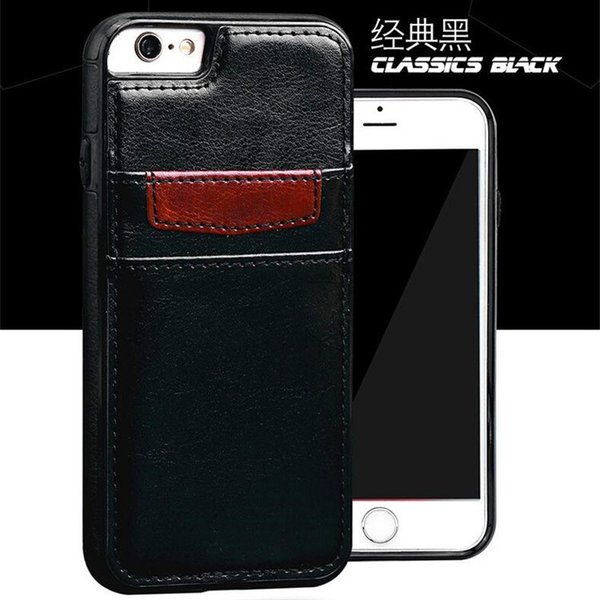 Luxury Card Pocket PU Leather Cases Double Card Slots Cover For iphone X 8 7 plus 6 6s plus 5s se samsung s8 s8 plus s7 s7 edge