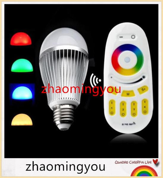 Mi-Licht 2.4G drahtlose Birne E27 Energie 9W dimmbare LED Lampe RGB WW / RGB weißes Milight Scheinwerferlicht mit Rf-Fernsteuerungs-Satz