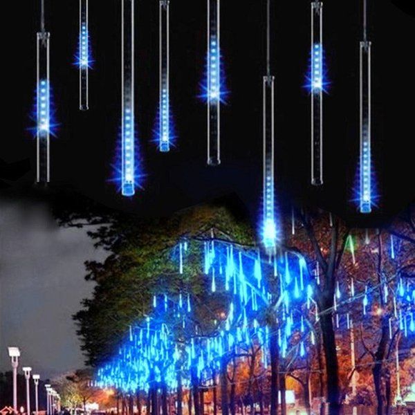 Impopular 50cm 8 Tube Meteor Shower Rain Tubes Outdoor Holiday Light New Year Decoration Christmas Lights Led Striing Outdoor String Lighting String