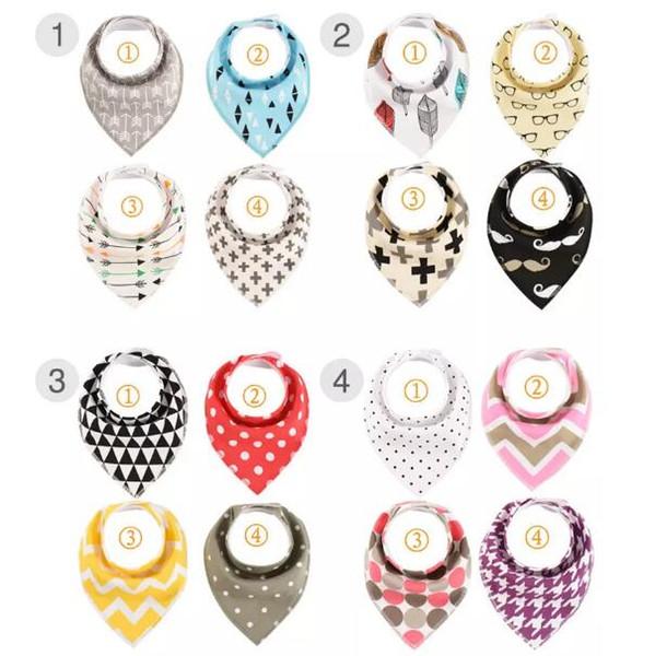 22 Styles Cartoons INS Fox Bibs Burp Cloths New Baby Cotton Double Layer Bibs Burp Cloths 4pcs/lot CCA6853 30lot
