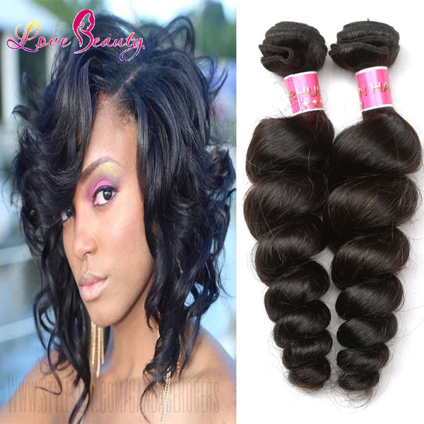 Loose Curly Virgin Hair Extensions Weft Good Quality Human Hair