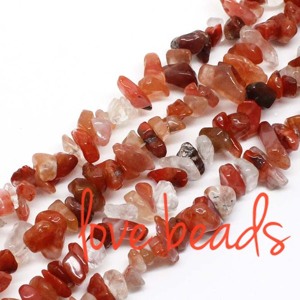 Natural Red Agate Gravel Stone 5mm-8mm Irregular Loose Beads Strand 80CM For wholesale Free Shipping(F00335) wholesale