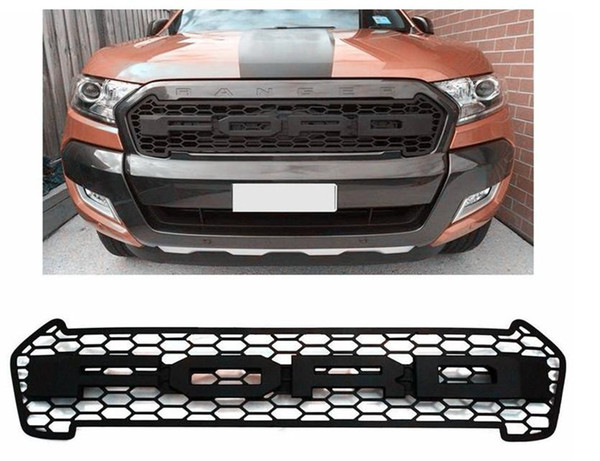 HIGH QUALITY ABS Front Grill for Ranger 2015 2016 FRONT RAPTOR BLACK LIT GRILLE FRONT GRILL FOR RANGER