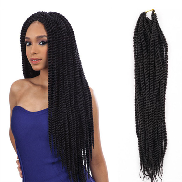 Havana Mambo Twist Crochet Braid hair 18'' Ombre Kinky Marley Twists Braiding Hair Extension Senegalese Twist Hair