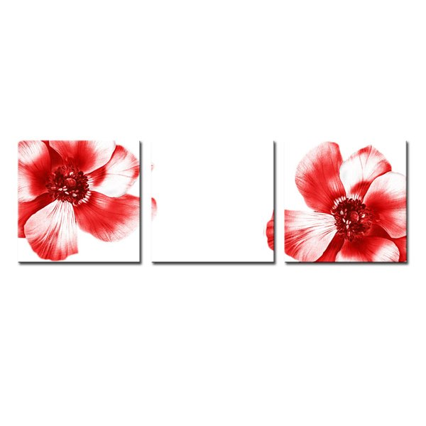 Fashion Art Picture Big Red Flowers Picture Home Decoration Print on Canvas Wall Art Print Canvas for Living Room