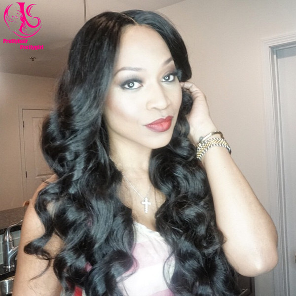 Hot Sale High Quality Sexy black wig Synthetic Lace Front Wig Glueless Body Wave Synthetic Wig Heat Resistant hair Wigs for woman