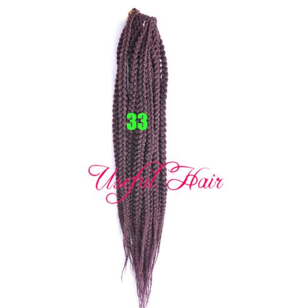 6pcs one head 3s box braids twist synthetic braiding hair crochet braids hair extensions jante collection Medium Auburn Hair Braids