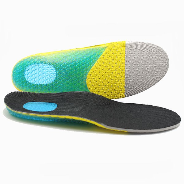 LAOSONG Silicone insoles Sports Orthotic Soft Running Gel Insoles Insert Shoe Pad Arch Support Cushion Heel Pain scholls Insoles